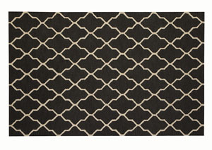 Black & Grey Pattern Rug 5' X 8'