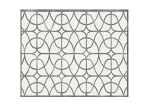 Image for Cararra  Geometric Trellis Beige and Grey Rug, 8'x10'