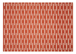 Red/White Rug 5 X 7
