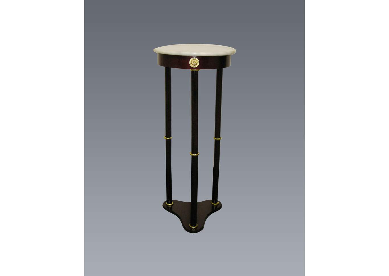 Round White Marble Stand,Crown Mark