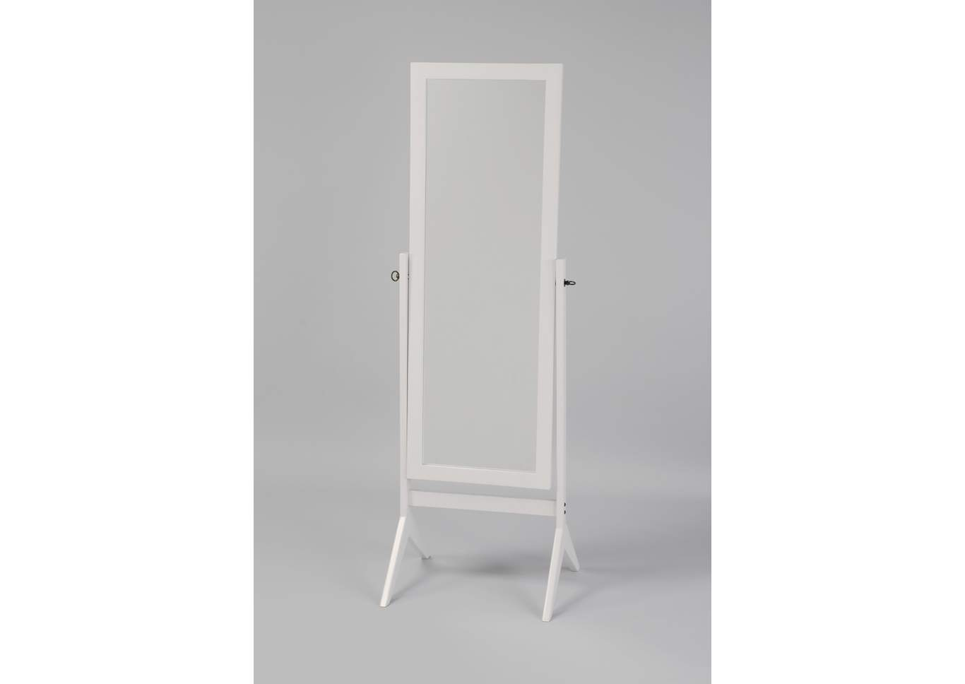 White Cheval Mirror,Crown Mark