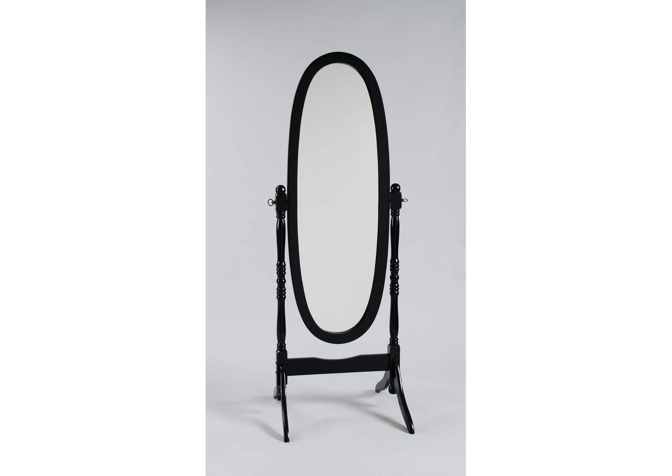 Black Finish Cheval Mirror,Crown Mark