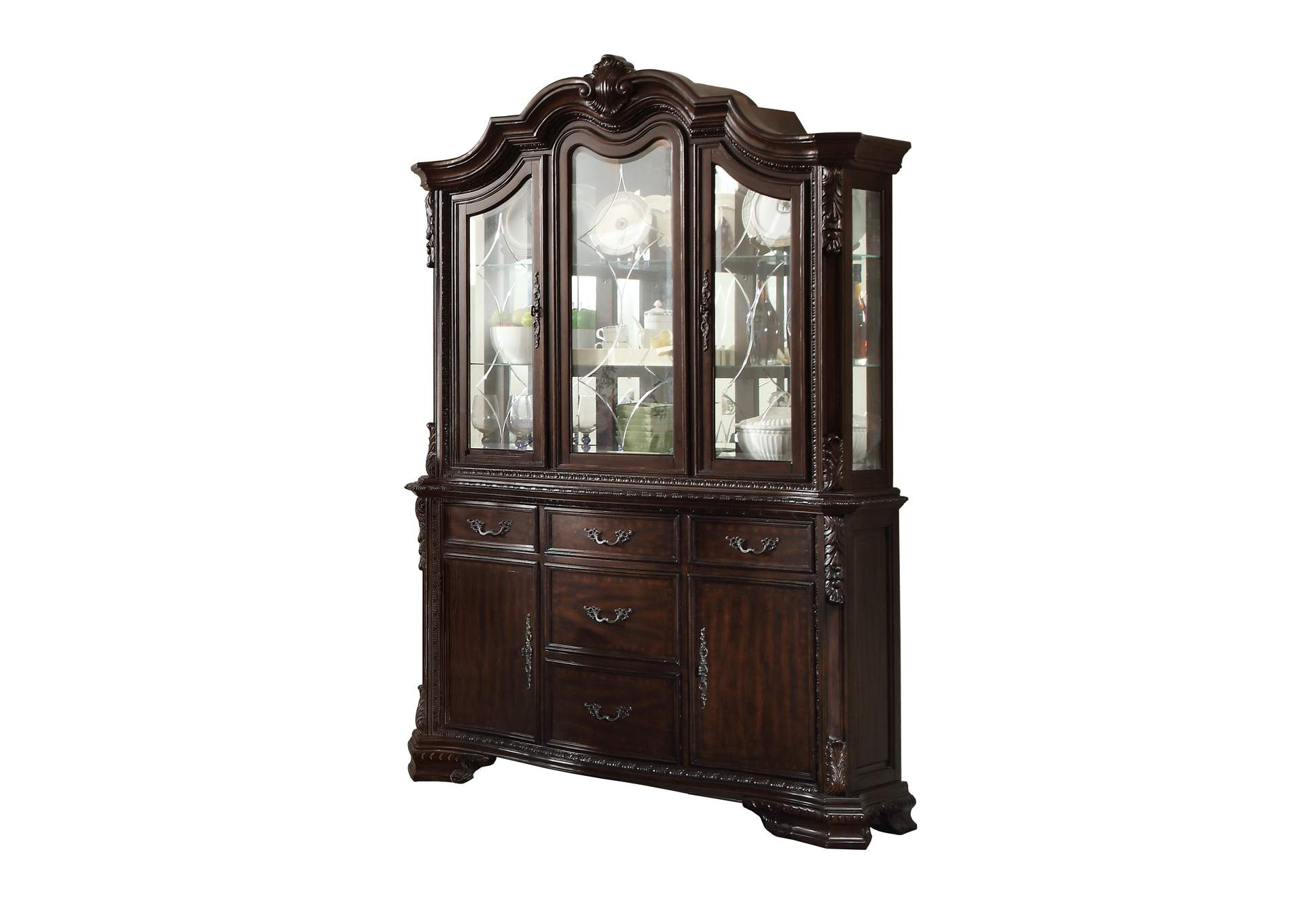 Kiera Brown China Hutch,Crown Mark