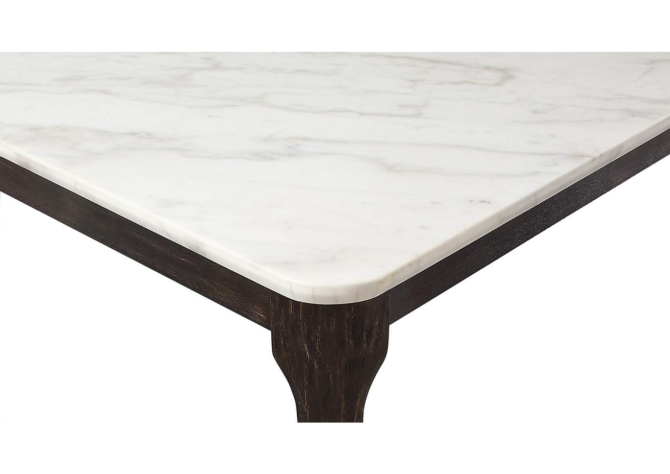 Janel Marble Rectangular Marble Top Dining Table,Crown Mark