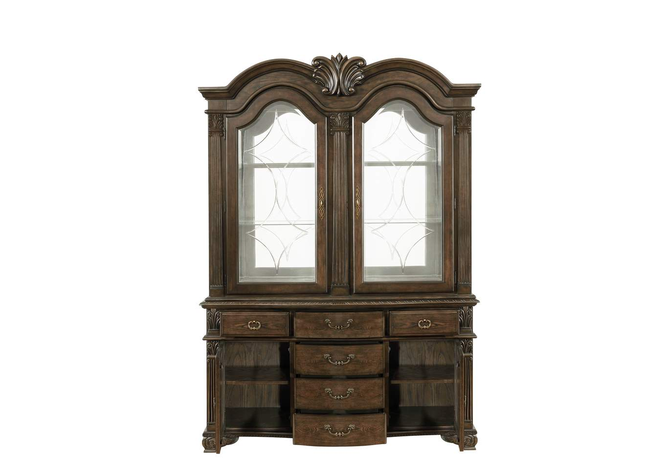 Pierre Brown China Hutch,Crown Mark