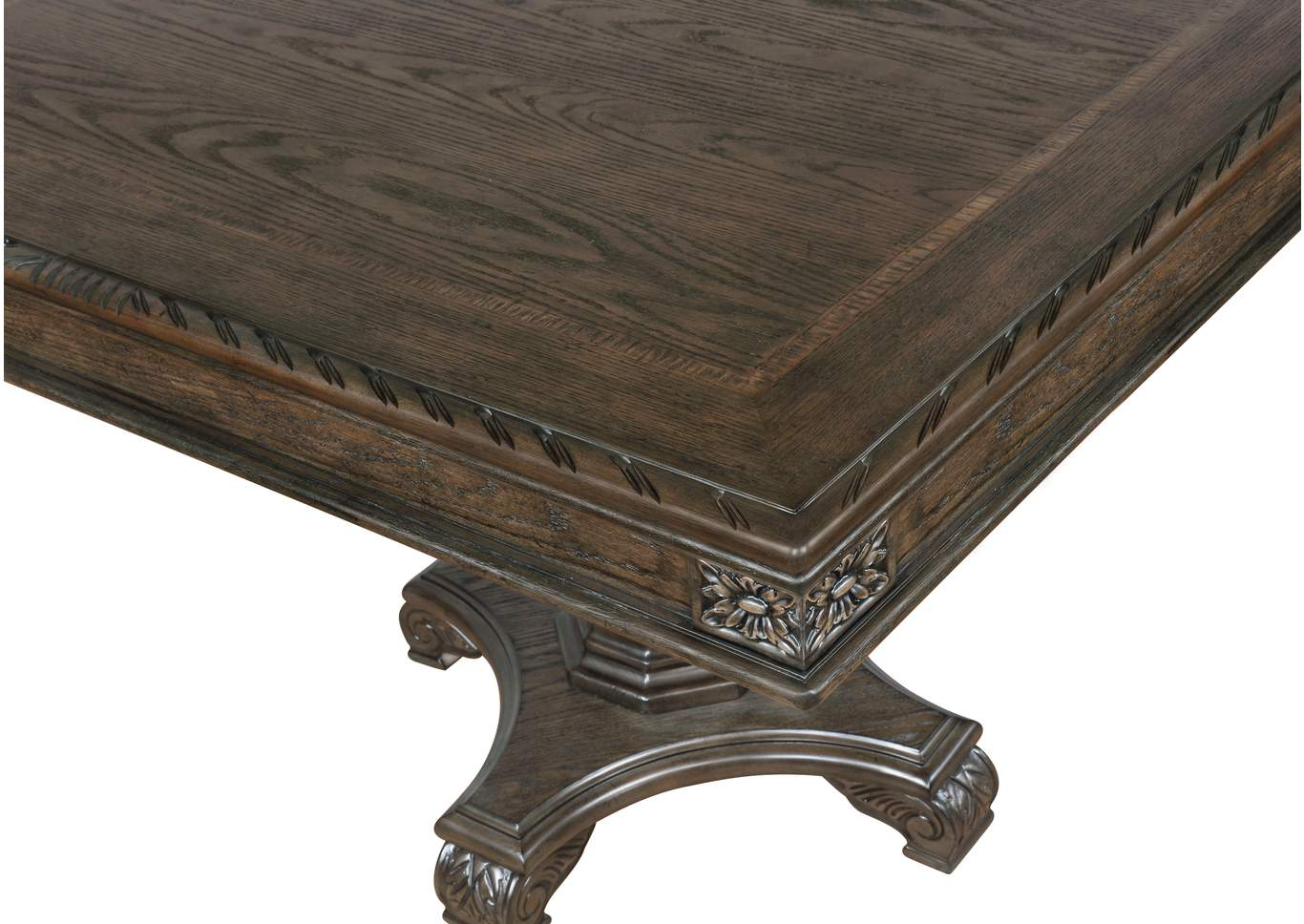 Pierre Pedestal Table,Crown Mark