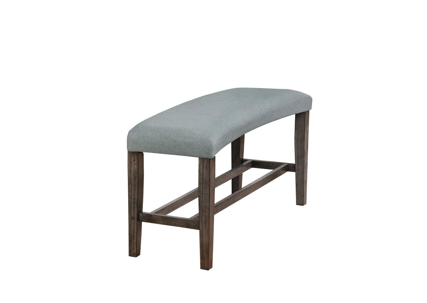 Hollis Grey Upholstered Dining Bench,Crown Mark