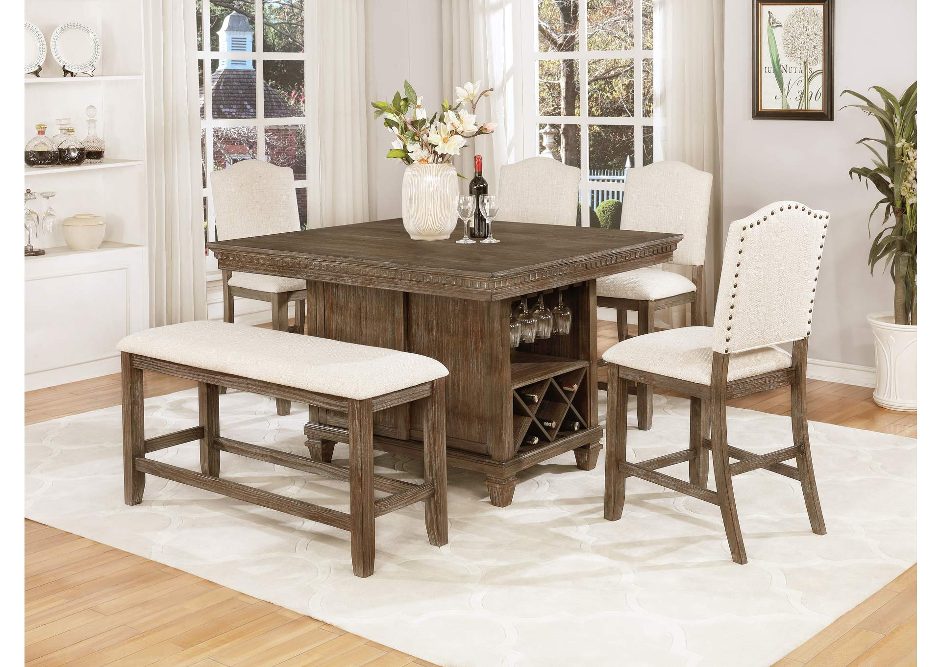Regent Counter Height Dining Table,Crown Mark