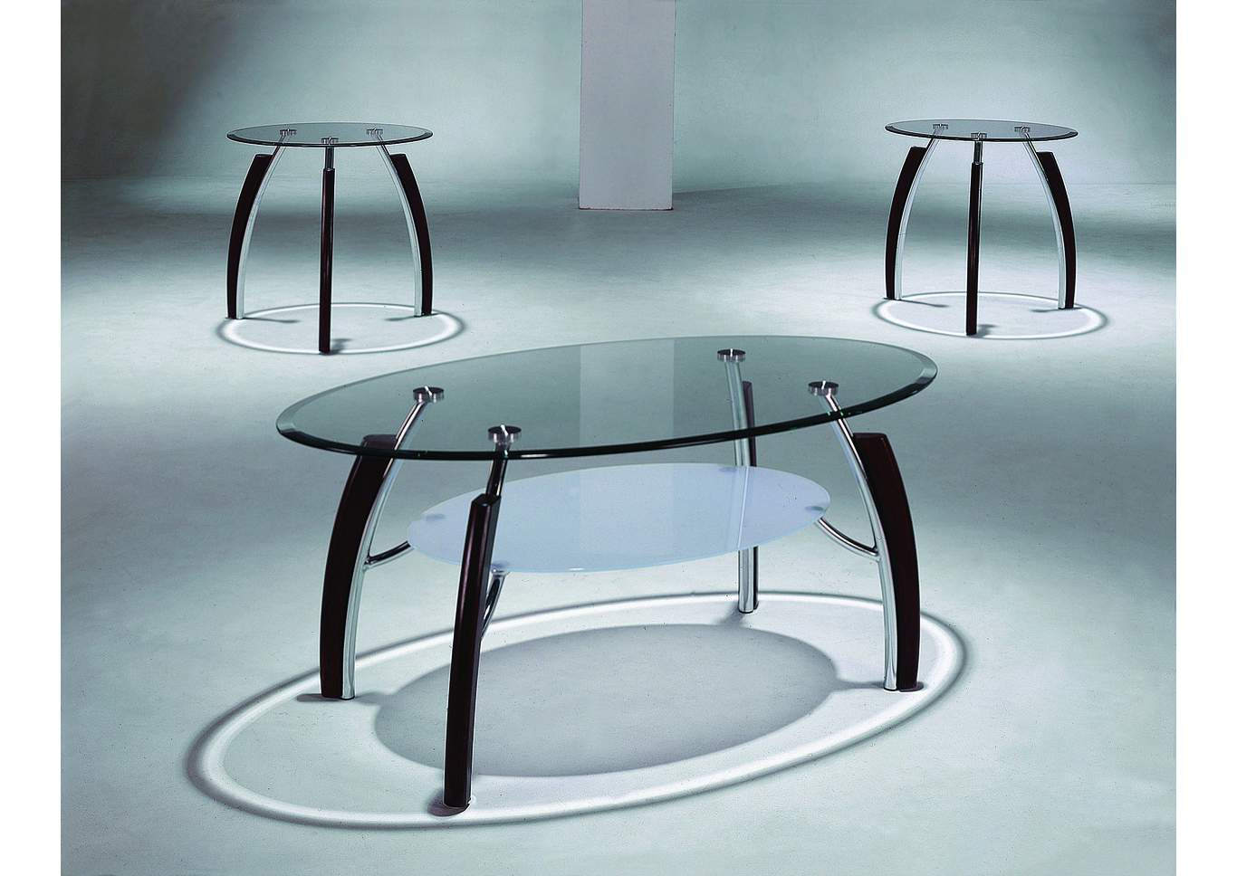 Stellar Glass Occasional Table Set,Crown Mark