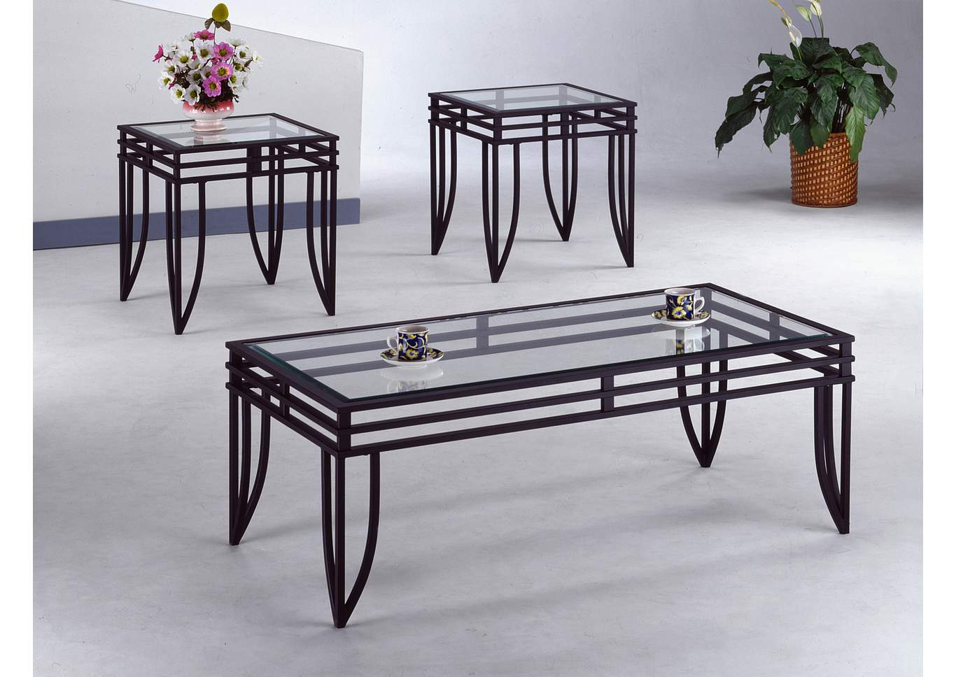 Matrix Occasional Table Set (Cocktail & 2 Ends),Crown Mark