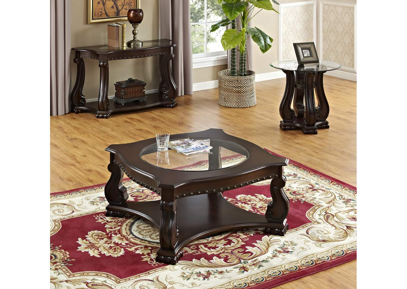 Madison Wood Coffee Table,Crown Mark
