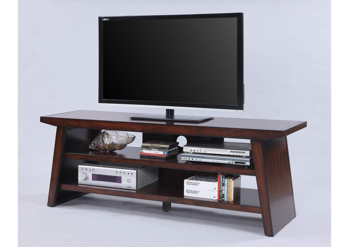 Dante Brown TV Stand,Crown Mark