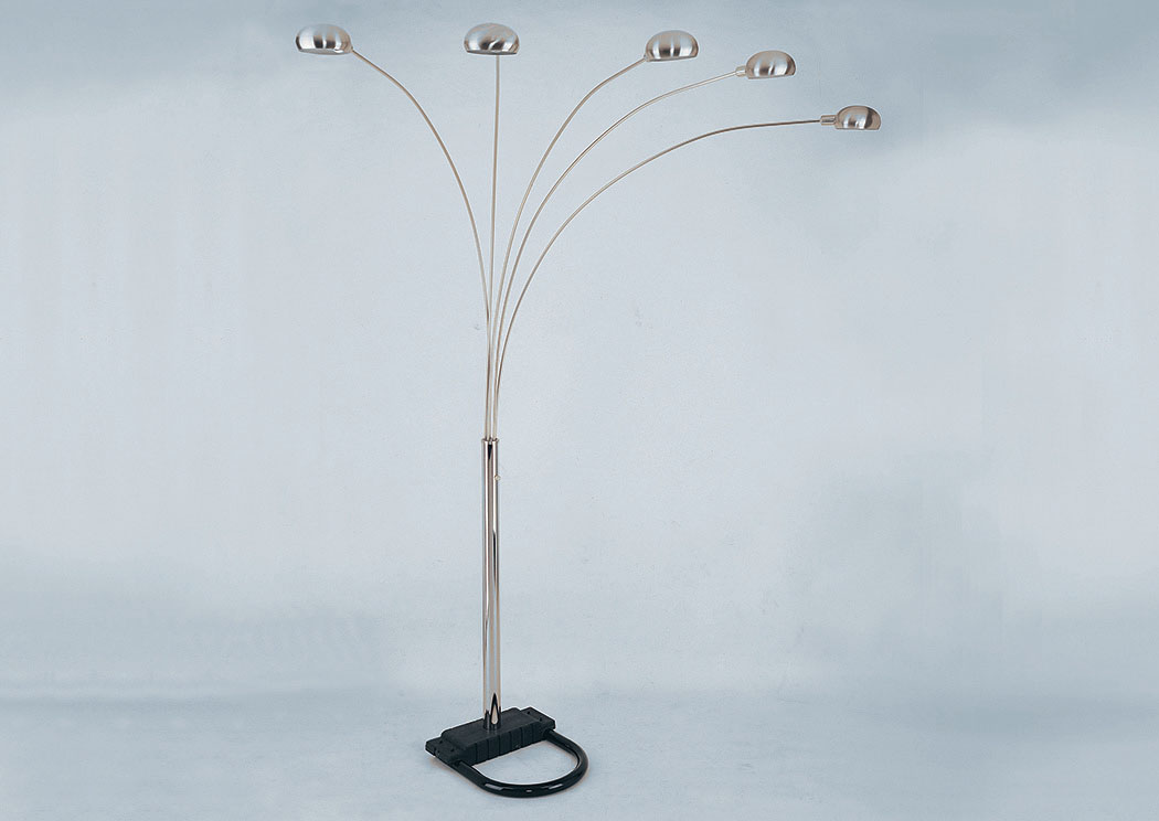 Ivan Smith Pewter 82 Quot Shade Floor Lamp