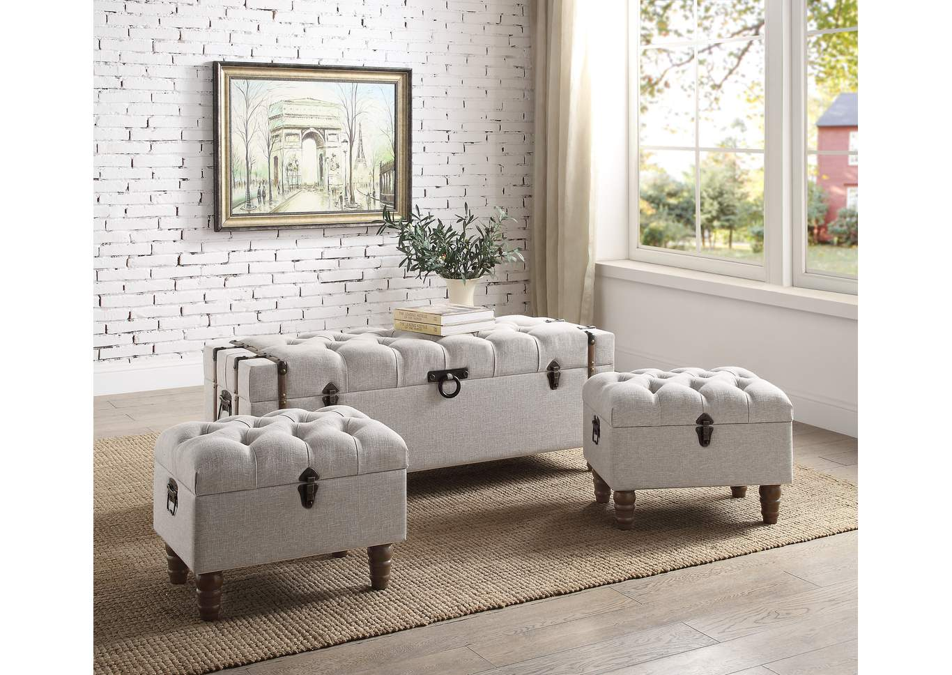 Enjoyable Ivan Smith Sachi 3 Piece Storage Ottoman Set Gmtry Best Dining Table And Chair Ideas Images Gmtryco