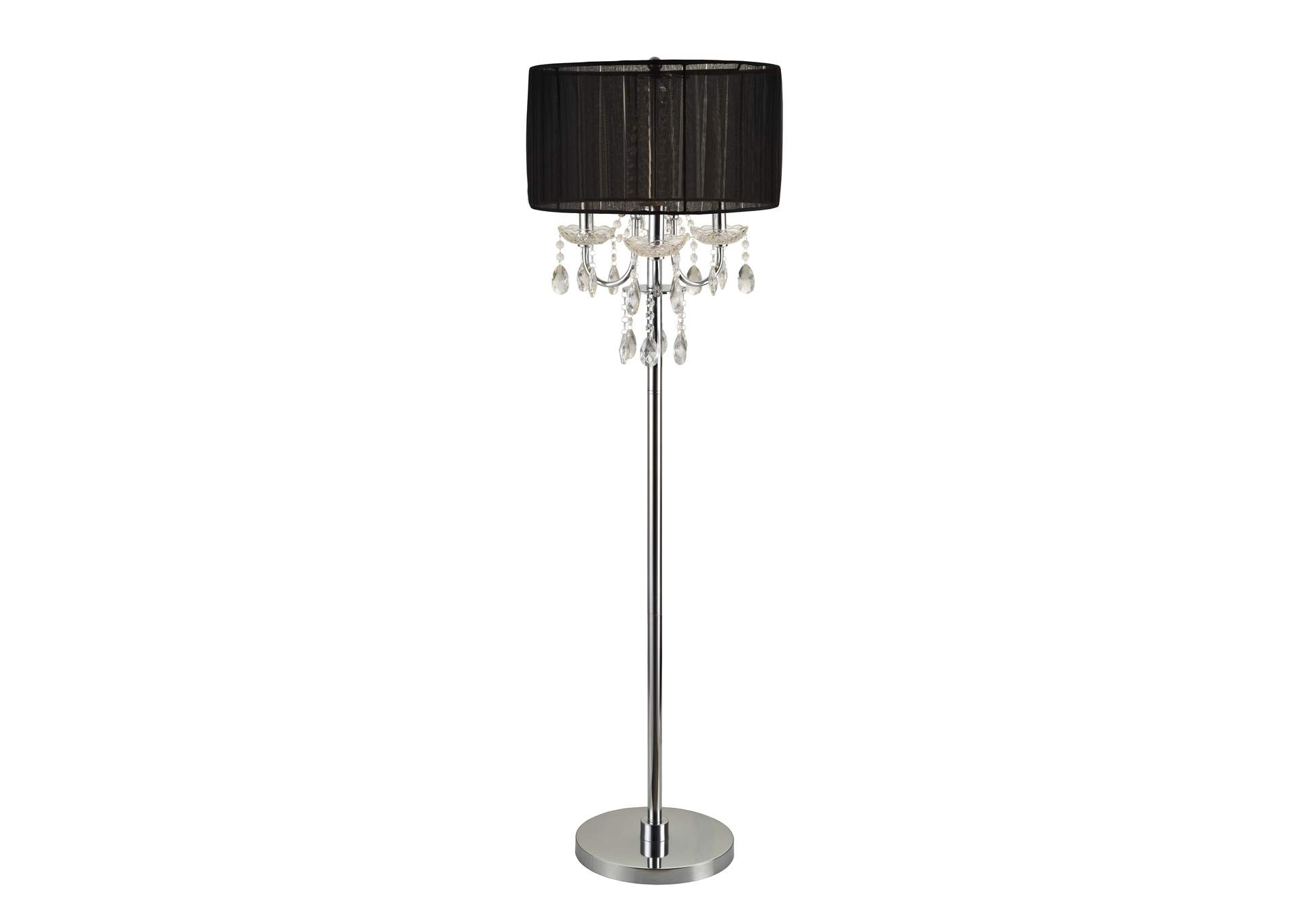 Black Chandelier Floor Lamp,Crown Mark