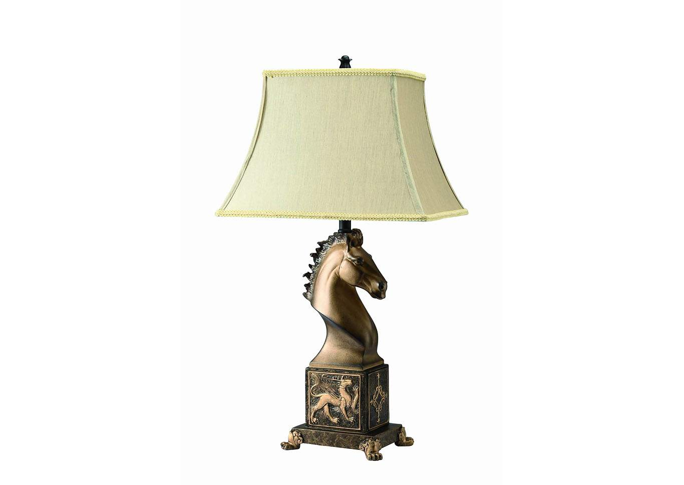 Horse Table Lamp,Crown Mark