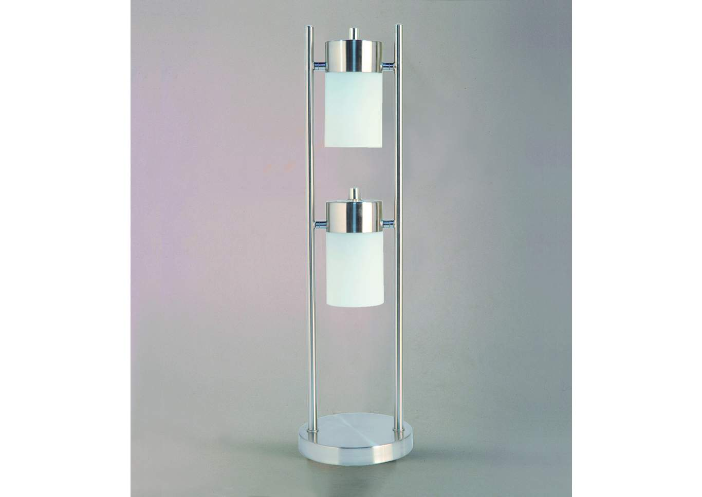 White Table Lamp,Crown Mark