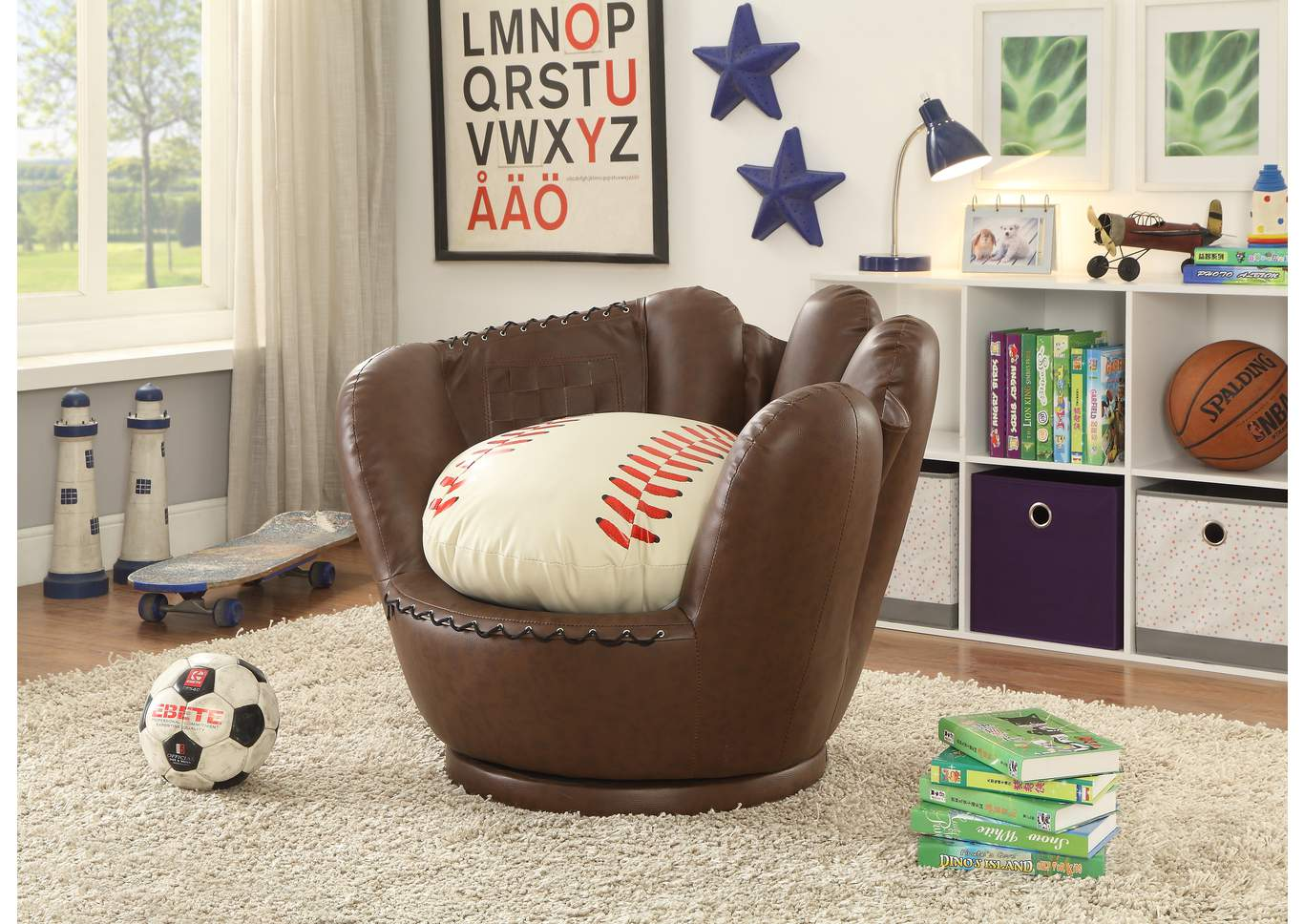 Baseball Glove Chair,Crown Mark