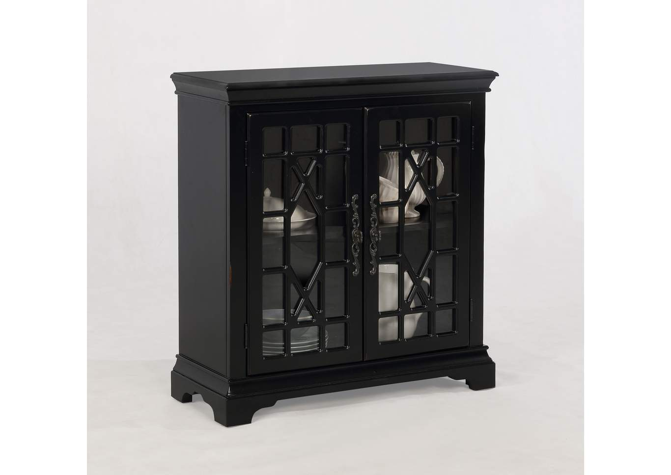 meyers tabakin inc francesca black accent cabinet