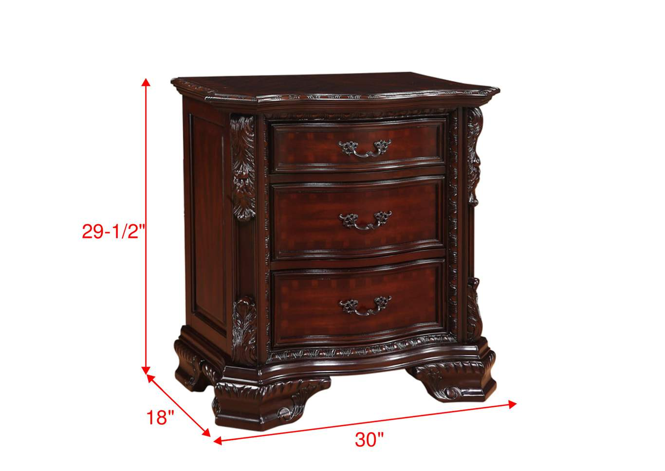 Sheffield Brown Nightstand,Crown Mark
