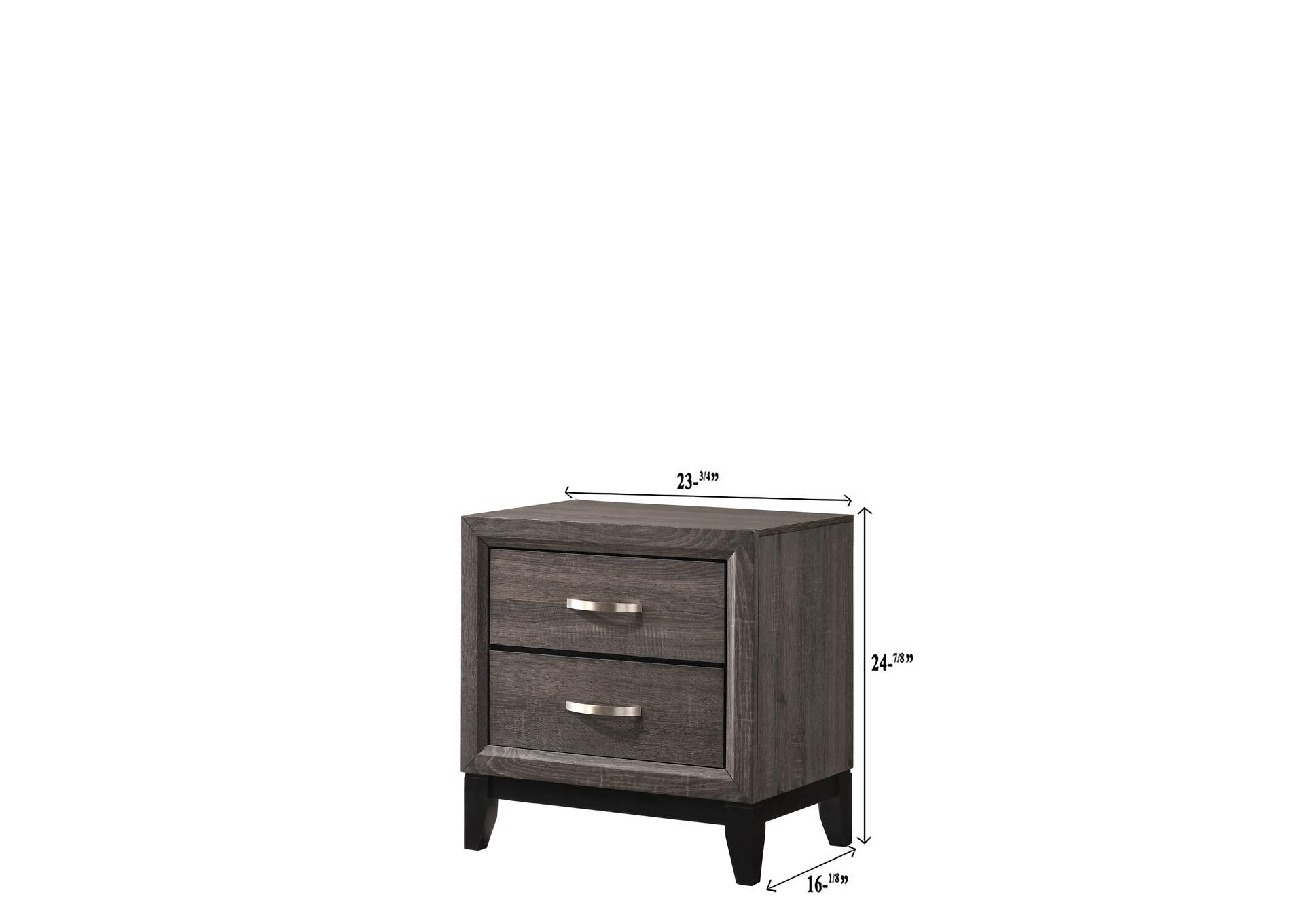 Akerson Grey Nightstand,Crown Mark