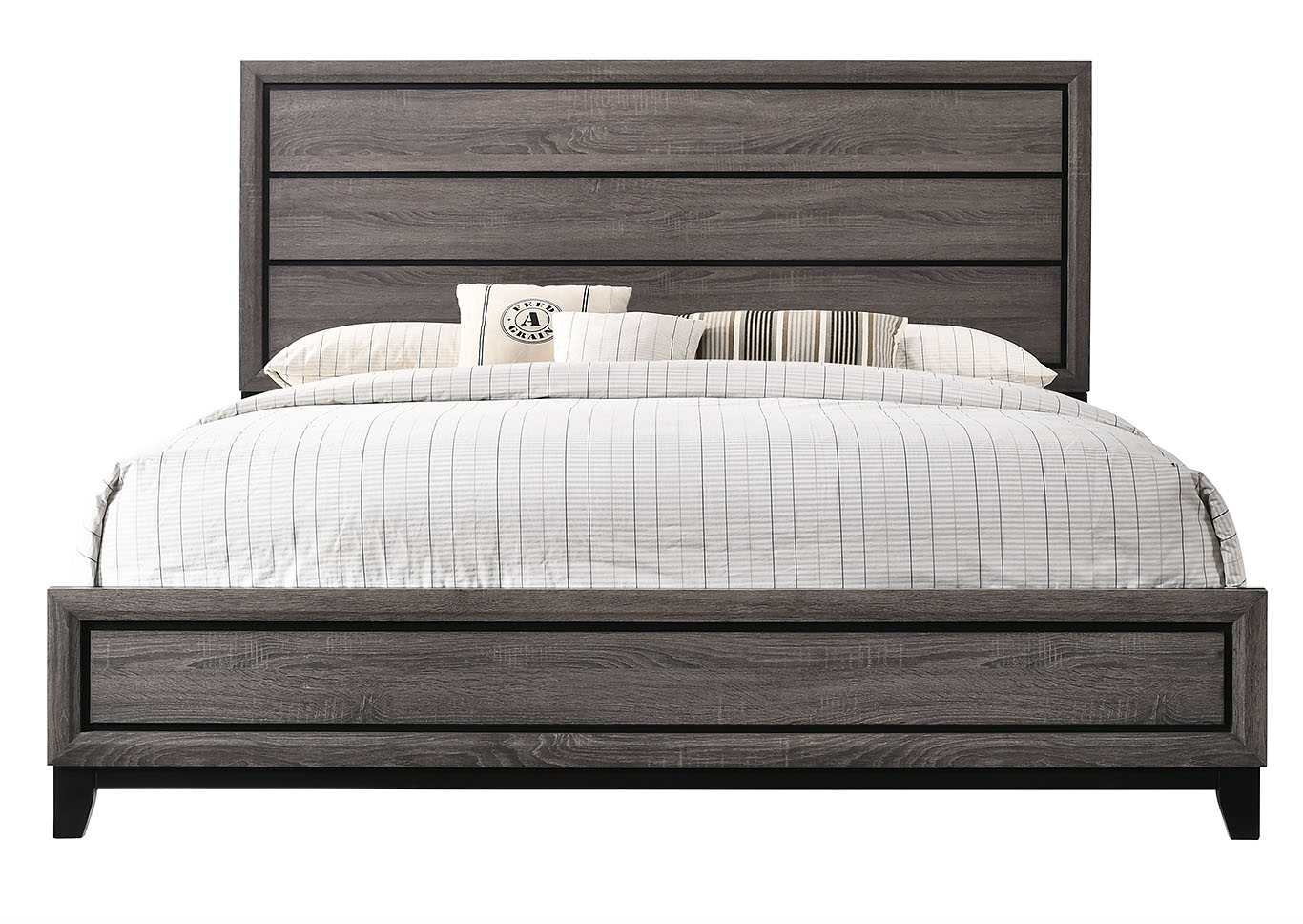 Akerson Grey California King Panel Bed,Crown Mark