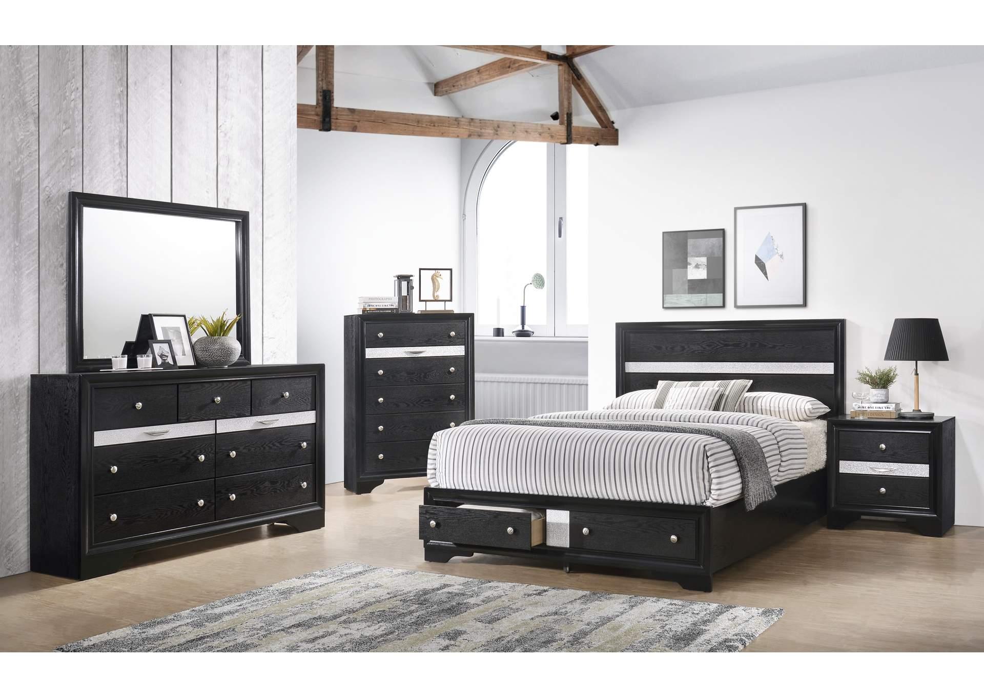Ivan Smith Regata Black Dresser w/Mirror
