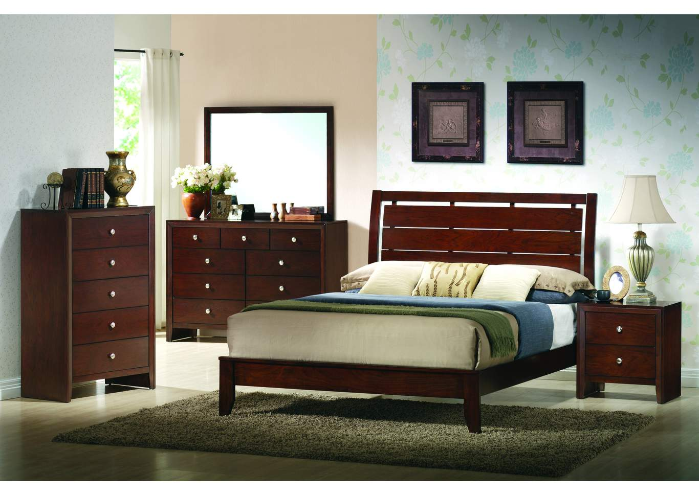 Evan Queen Bed,Crown Mark