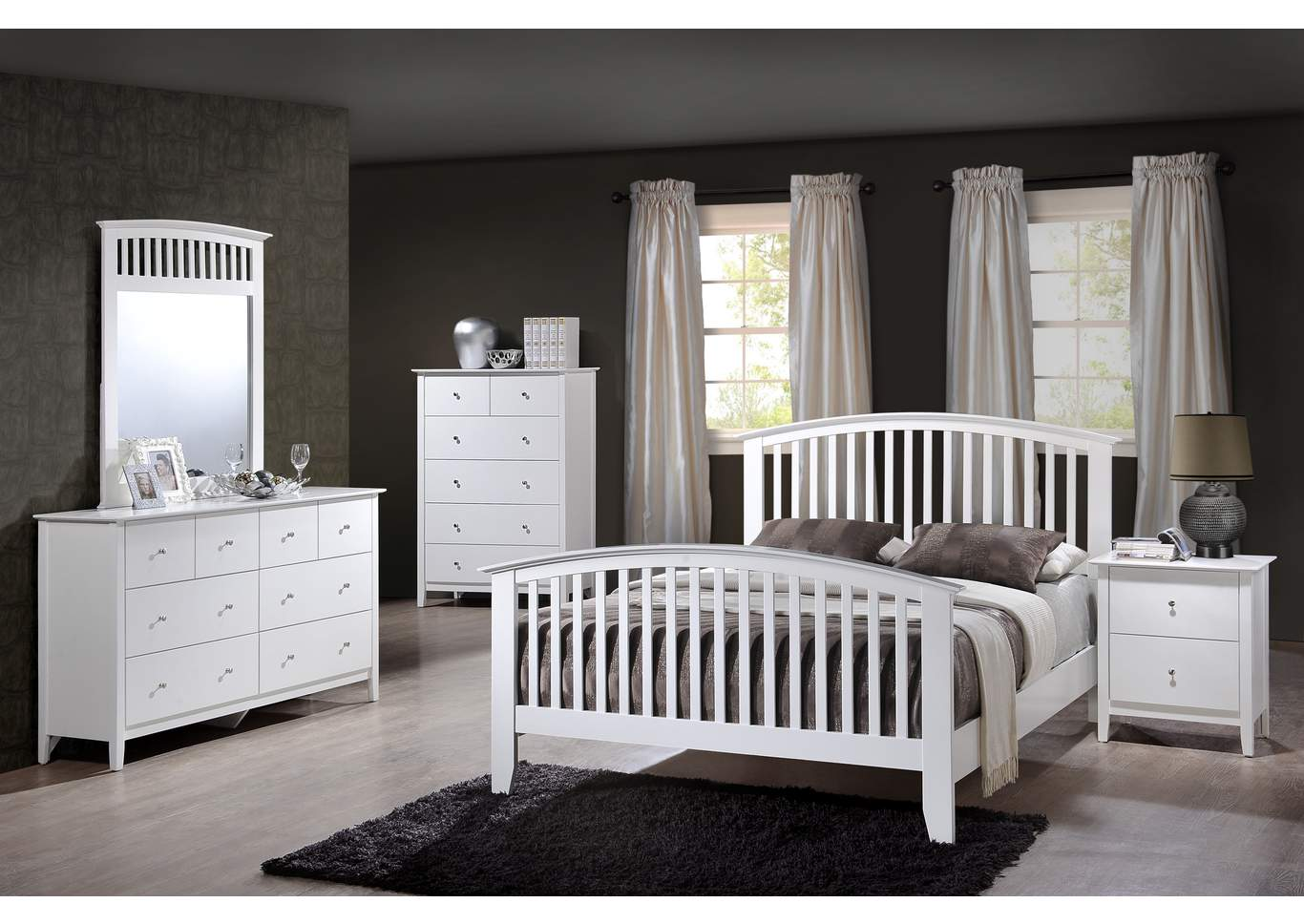 Lawson White Twin Bed,Crown Mark
