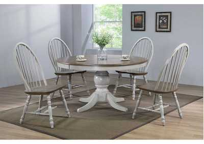 Jack Pedestal Table w/4 Side Chairs