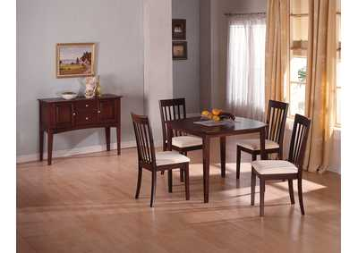 Ashland Wood Dining Table w/4 Side Chairs