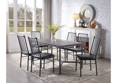 Devar Dining Table w/6 Side Chairs