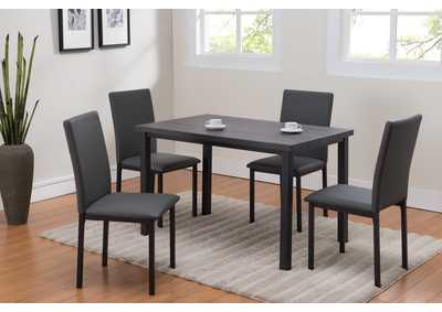 Image for Orilo Grey Rectangular Dinette W/ 4 Chairs