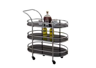 Orbit Black Orbit Serving Cart