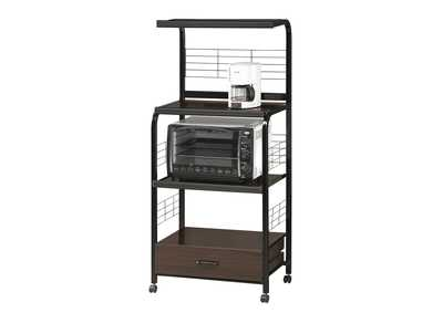 Image for Black Kitchen Shelf On Casters