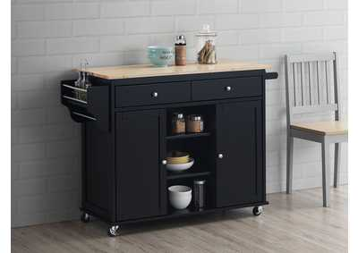 Grady Black Kitchen Cart