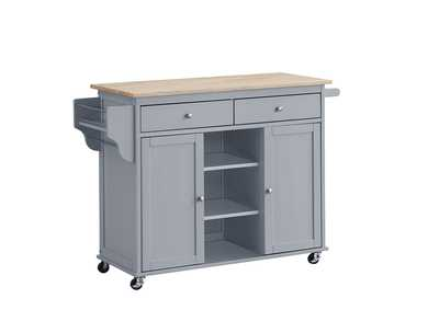 Grady Grey Kitchen Cart