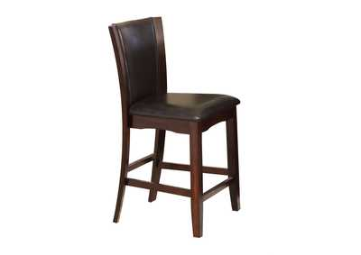 Camelia Espresso Assembled Counter Chair [2/ctn]