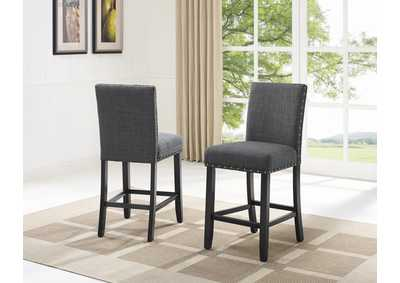 Image for Wallace Dark Grey Assembled Counter Chair [2/ctn]
