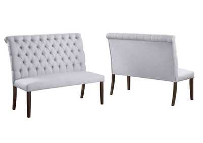 Image for Palmer White High Back Dining Bench