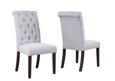 Image for Palmer White Assembled Dining Side Chair [2/ctn]
