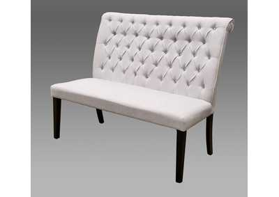 Palmer White High Back Dining Bench