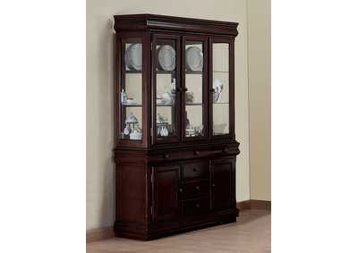 Merlot Brown China Hutch
