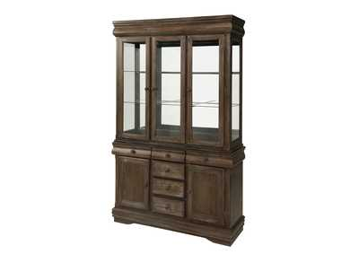 Merlot Grey China Hutch