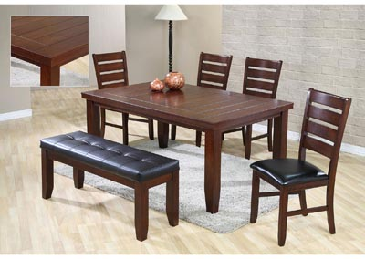 Image for Bardstown Brown Rectangular Dining Set W/ 4 Chairs & Bench