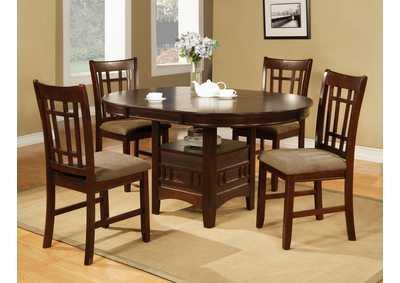 Empire Espresso Round Dining Room Table