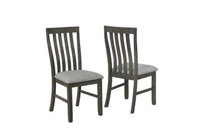 Image for Nina Grey Assembled Dining Side Chair [2/ctn]