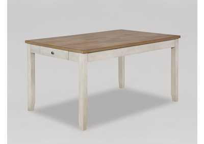 Image for Nina Brown & White Rectangular Wooden Dining Table