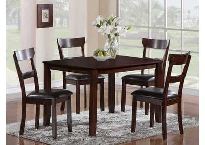 Henderson Square Dining Table w/4 Side Chairs