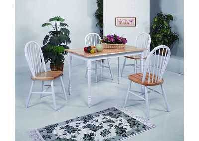 Image for Windsor White/Natural Side Chair (Set of 4)